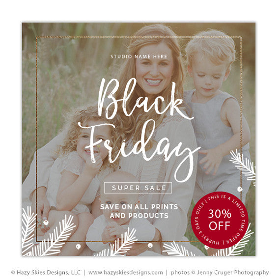 Black Friday Marketing Template Photography Photoshop Advertisement - Photography ad template