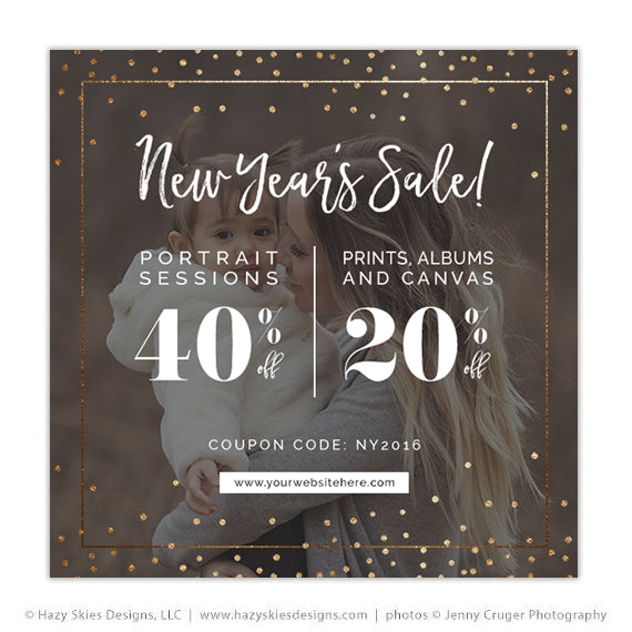 photography marketing template new years sale