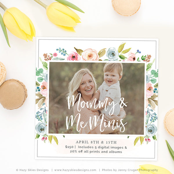 Mommy and Me Mini Session Template | Her & Me