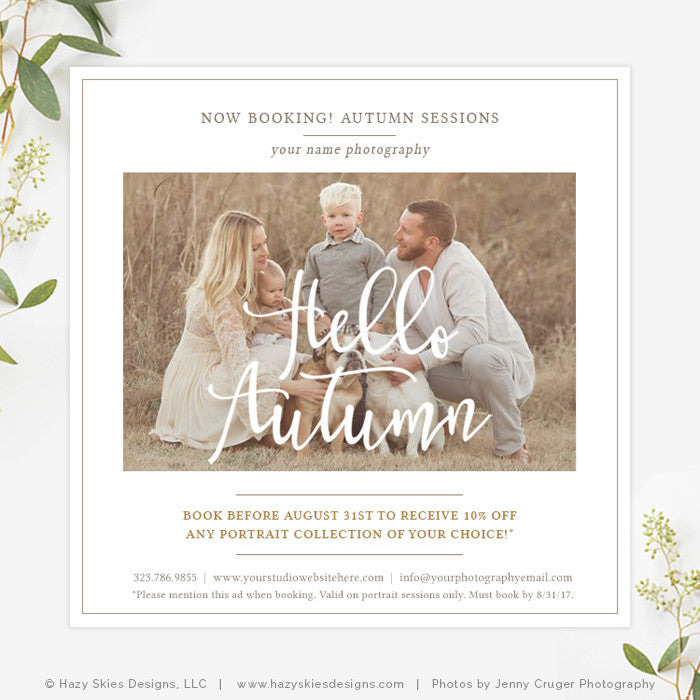Fall Photography Marketing Template | Organic Autumn