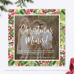 Christmas Mini Session Template | Berry Christmas Minis