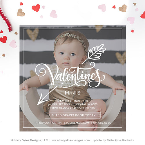 Valentine's Day Mini Session Template | Cupid's Arrow