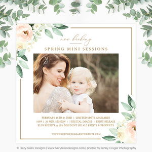 Spring Mini Session Template | Spring Blooms