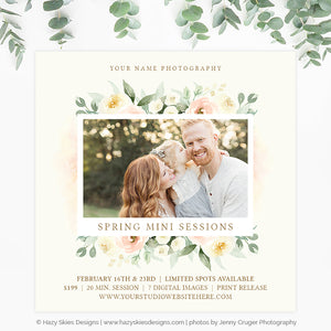 Spring Mini Session Template | Bloom and Grow