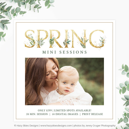 Spring Mini Session Template | Spring Flora