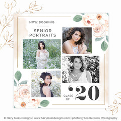 Senior Marketing Template | Floral Fashionista Ad