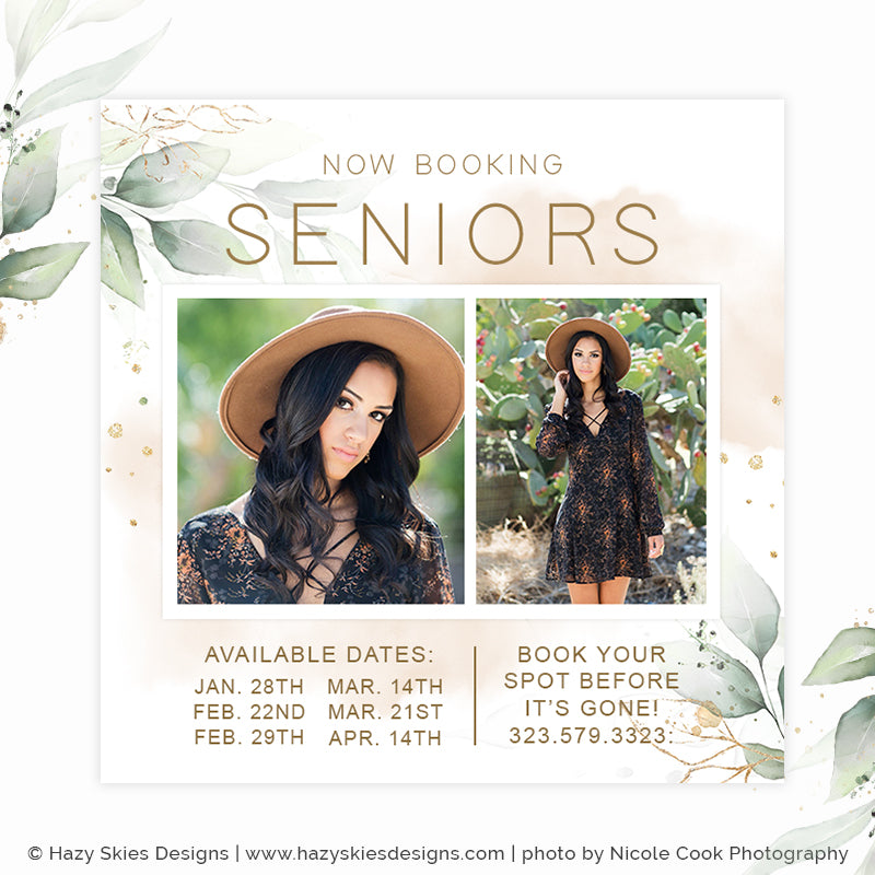 Senior Marketing Template Photoshop | Gold Leaf