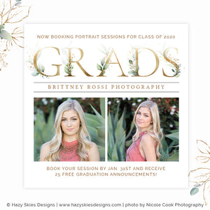Senior Marketing Template Photoshop | Gorgeous Grad