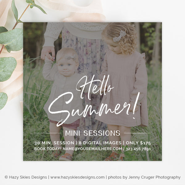 Summer Mini Session Template | Sweet Summer Minis