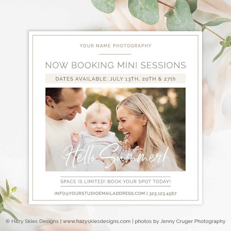 Summer Mini Session Template | Simplistic Summer