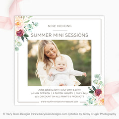 Summer Mini Session Template | Summer Blooms
