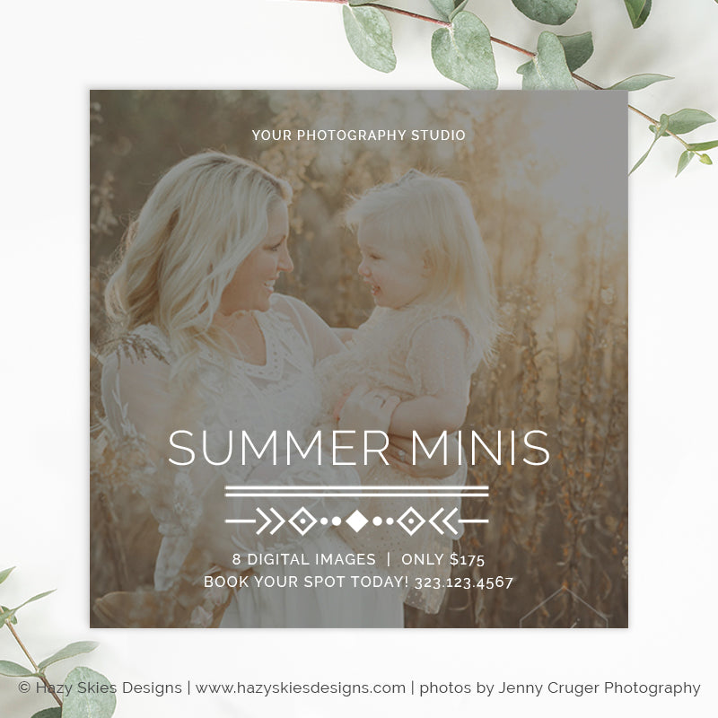 Summer Mini Session Template | Boho Summer