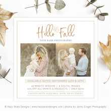 Fall Mini Session Template | Autumn Ad