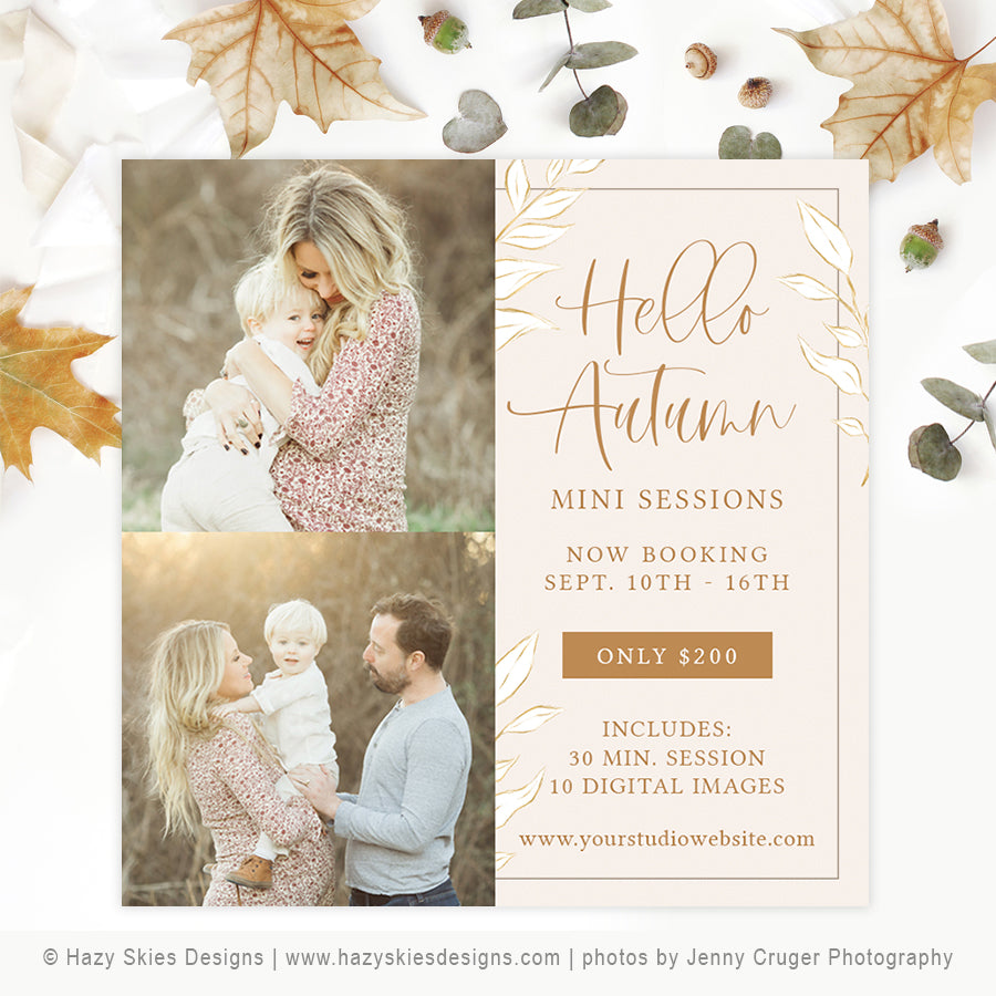 Fall Mini Session Template | Organic Autumn