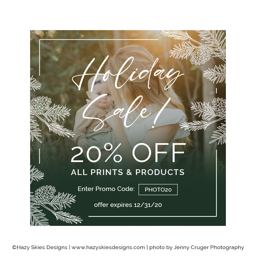 Holiday Marketing Template | Green Ombre