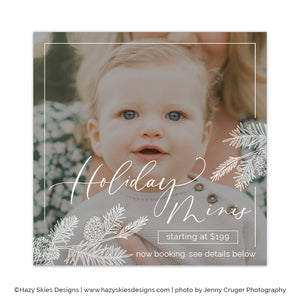 Holiday Mini Session Template | Winter Branches