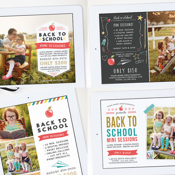 Mini Session Templates | Back to School Bundle