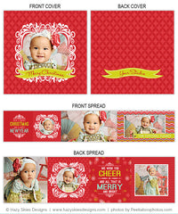 Accordion Mini Book Template | Christmas Cheer
