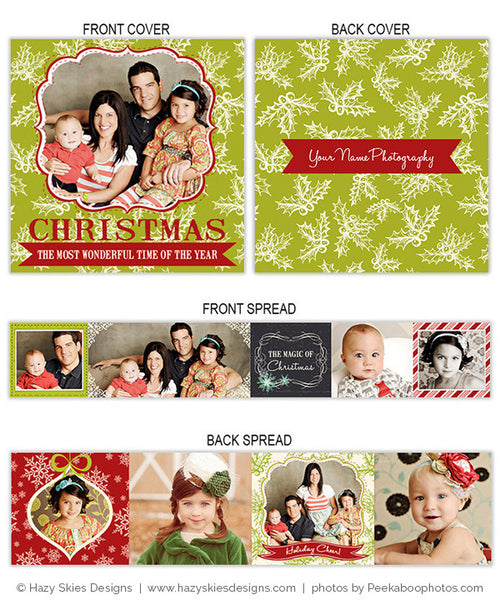 Accordion Mini Book Template | Mistletoe