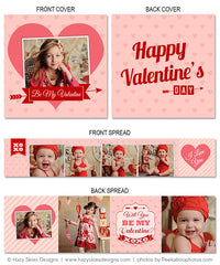 Accordion Mini Book Template | Be My Valentine