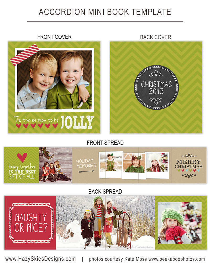 Accordion Mini Book Template Jolly Photoshop Templates For