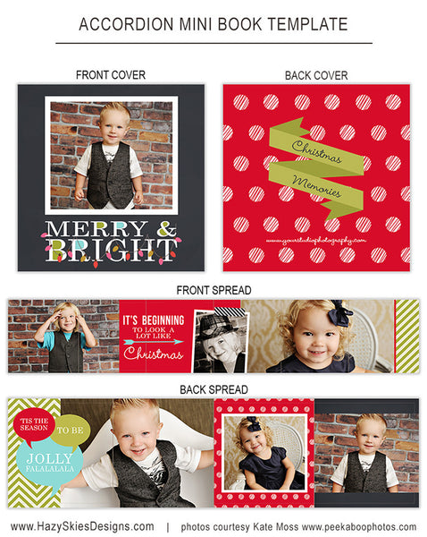 Accordion Mini Book Template | Merry & Bright
