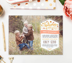 Fall Mini Session Template | Falling Leaves