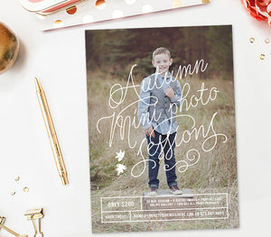 Fall Mini Session Templates | Fall Bundle