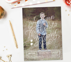 Fall Mini Session Template for Photoshop | Autumn Minis