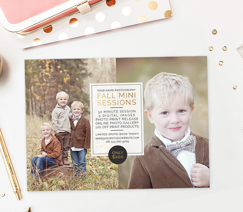 Fall Mini Session Template | Golden Hour