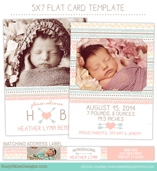 Birth Announcement Template | Tribal Girl