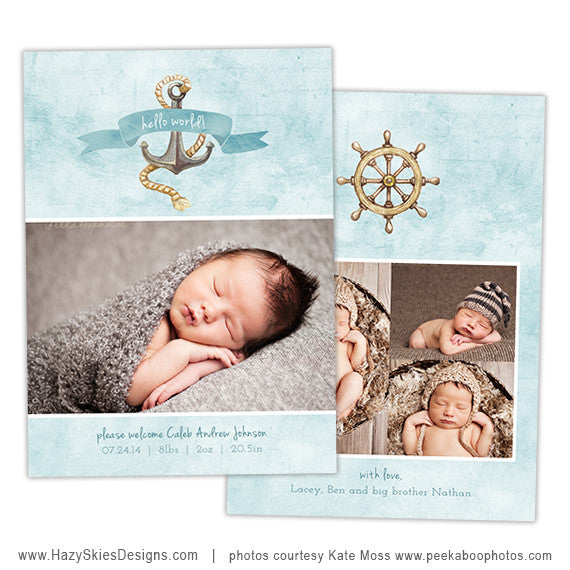 Birth Announcement Templates | Watercolor