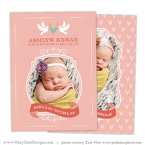 Birth Announcement Template | Doves