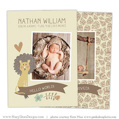 Birth Announcement Template | Baby Lion