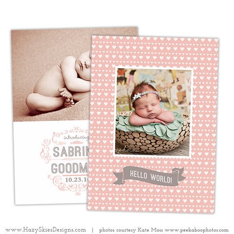 Birth Announcement Template | My Little Love