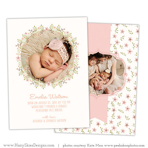 Birth Announcement Template | Simply Adorable