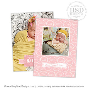 Birth Announcement Template | Laurel Wreath Love