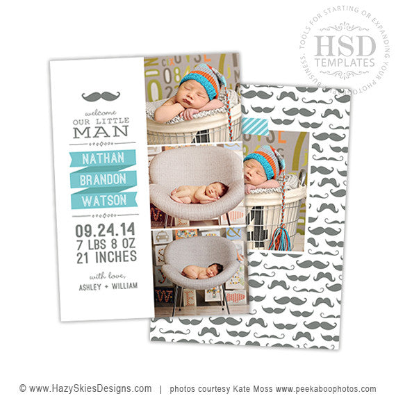 Birth Announcement Template | Little Man