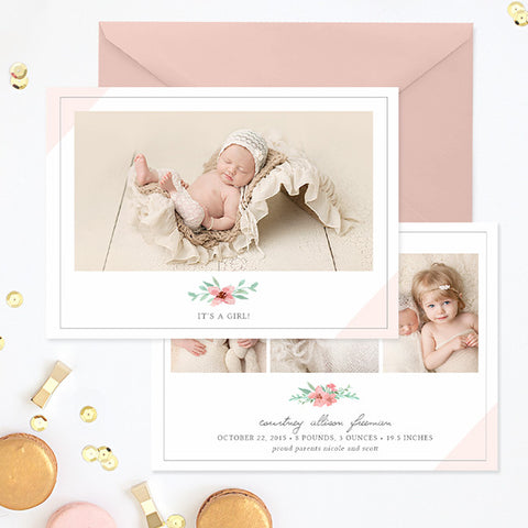Birth Announcement Template Girl | Hello Beautiful