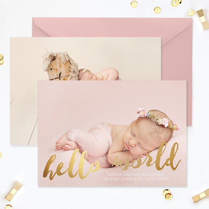 Birth Announcement Template Girl Template Photoshop  Photoshop