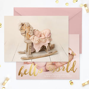 Birth Announcement Template | Hello World Gold
