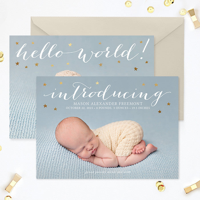 Birth Announcement Template | Introducing