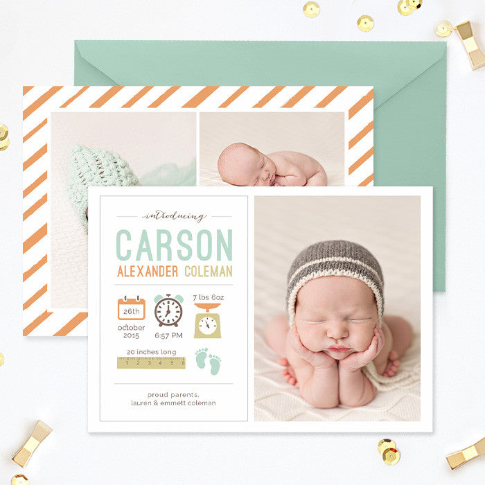 Birth Announcement Template Girl Photoshop Template – Photoshop ...