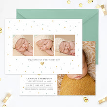 Birth Announcement Template | Hello World Confetti