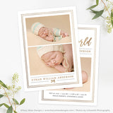 Birth Announcement Template | Sage