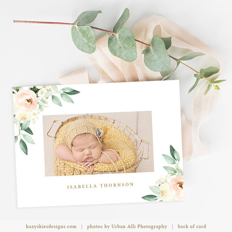 Birth Announcement Template | Blush