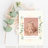 Birth Announcement Template Girl | Ivory