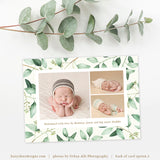 Birth Announcement Template | Eucalyptus