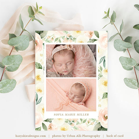 Birth Announcement Template | Cascade