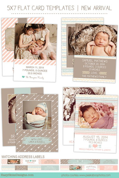 Birth Announcement Templates | New Arrival Collection